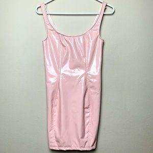 Dresses & Skirts - Bubble Gum Pink Latex Mini Dress